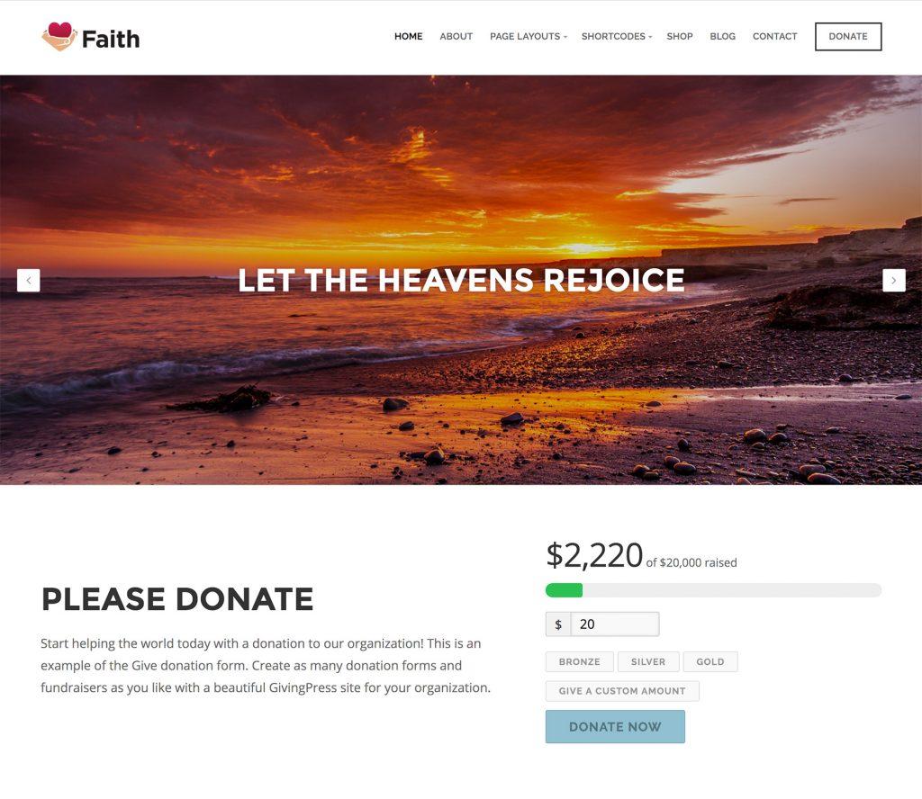 GivingPress Church Example