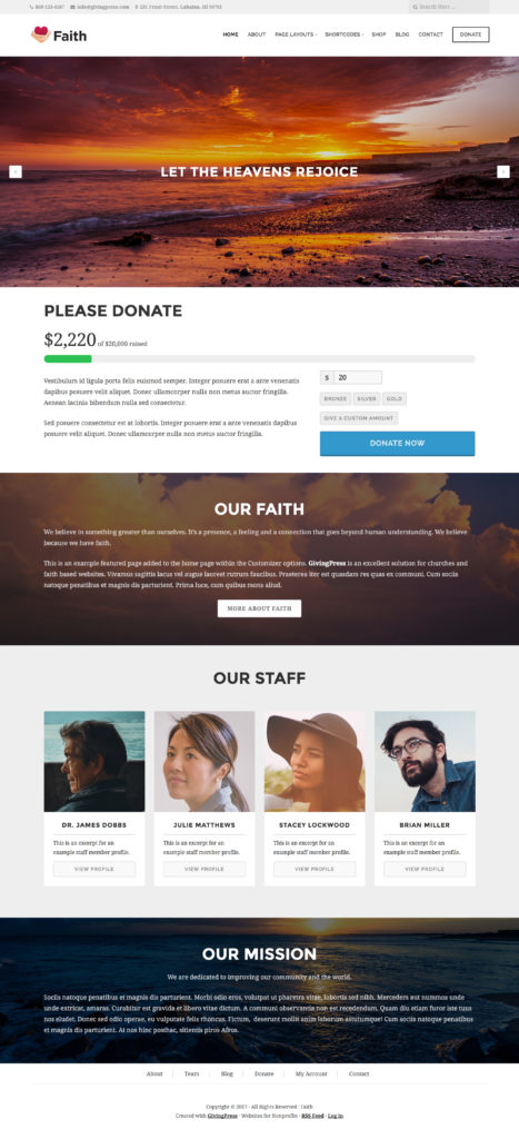 GivingPress Church Website Example