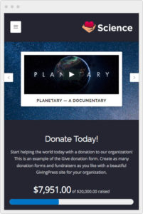 GivingPress Mobile Website Design
